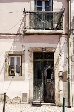 Welcome to Portugal Collection - Old Building Facade in Lisbon II by Philippe Hugonnard
