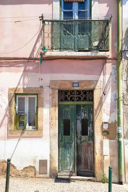 Welcome to Portugal Collection - Old Building Facade in Lisbon by Philippe Hugonnard