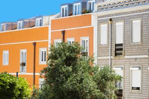 Welcome to Portugal Collection - Orange Facade Lisbon by Philippe Hugonnard