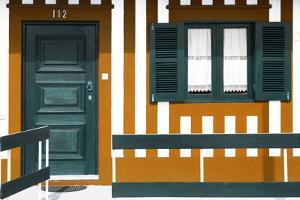 Welcome to Portugal Collection - Orange Striped Beach House by Philippe Hugonnard