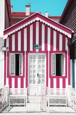 Welcome to Portugal Collection - Pink and White House by Philippe Hugonnard