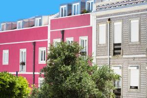 Welcome to Portugal Collection - Pink Facade Lisbon by Philippe Hugonnard