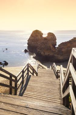 Welcome to Portugal Collection - Praia do Camilo Stairs at Sunset II by Philippe Hugonnard
