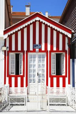 Welcome to Portugal Collection - Red and White House by Philippe Hugonnard