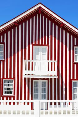 Welcome to Portugal Collection - Red and White Striped Facade by Philippe Hugonnard