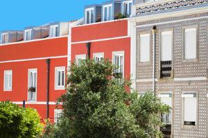 Welcome to Portugal Collection - Red Facade Lisbon by Philippe Hugonnard