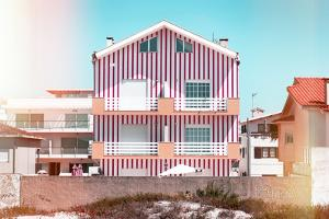 Welcome to Portugal Collection - Red Striped House II by Philippe Hugonnard