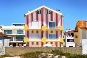 Welcome to Portugal Collection - Red Striped House by Philippe Hugonnard