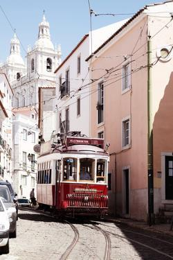 Welcome to Portugal Collection - Red Tram Lisbon II by Philippe Hugonnard