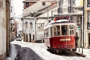 Welcome to Portugal Collection - Red Tram Old Town Lisbon II by Philippe Hugonnard