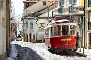 Welcome to Portugal Collection - Red Tram Old Town Lisbon by Philippe Hugonnard