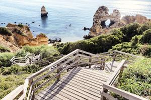 Welcome to Portugal Collection - Stairs to access the paradise Beach by Philippe Hugonnard