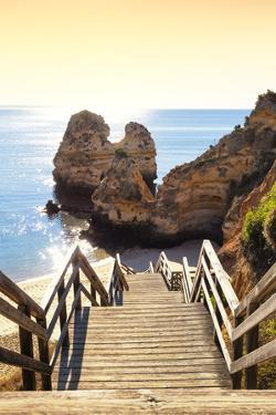 Welcome to Portugal Collection - Stairs to the Beach at Sunset by Philippe Hugonnard