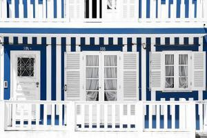 Welcome to Portugal Collection - Traditional Blue Striped Facade by Philippe Hugonnard