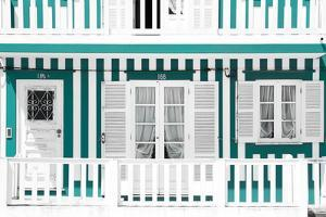 Welcome to Portugal Collection - Traditional Green Striped Facade by Philippe Hugonnard