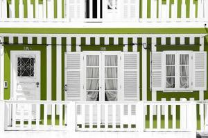 Welcome to Portugal Collection - Traditional Lime Striped Facade by Philippe Hugonnard
