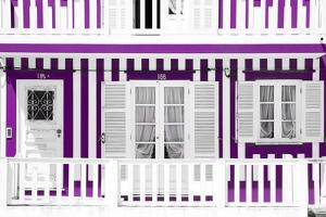 Welcome to Portugal Collection - Traditional Purple Striped Facade by Philippe Hugonnard