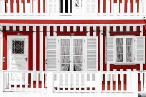 Welcome to Portugal Collection - Traditional Red Striped Facade by Philippe Hugonnard