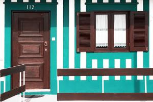 Welcome to Portugal Collection - Turquoise Striped Beach House by Philippe Hugonnard