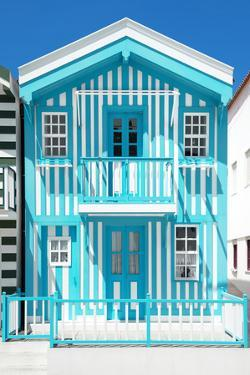 Welcome to Portugal Collection - Turquoise Striped House by Philippe Hugonnard