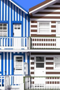 Welcome to Portugal Collection - Two Striped Facade Blue & Brown by Philippe Hugonnard