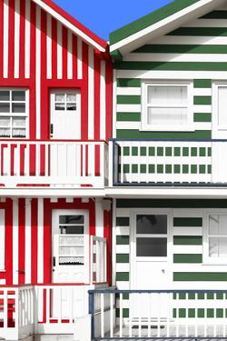 Welcome to Portugal Collection - Two Striped Facade Red & Green by Philippe Hugonnard