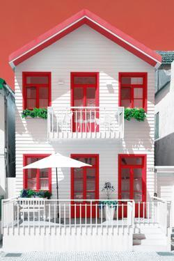 Welcome to Portugal Collection - White House and Red Windows by Philippe Hugonnard