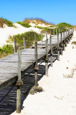 Welcome to Portugal Collection - Wooden Pier on the Beach by Philippe Hugonnard