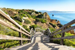 Welcome to Portugal Collection - Wooden Staircase to Sandy Beach by Philippe Hugonnard