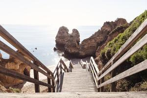 Welcome to Portugal Collection - Wooden Stairs to Praia do Camilo Beach II by Philippe Hugonnard