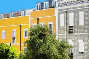 Welcome to Portugal Collection - Yellow Facade Lisbon by Philippe Hugonnard