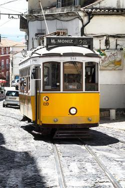 Welcome to Portugal Collection - Yellow Lisbon Tramway 28 by Philippe Hugonnard
