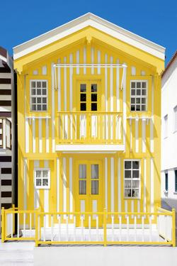 Welcome to Portugal Collection - Yellow Striped House by Philippe Hugonnard