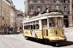 Welcome to Portugal Collection - Yellow Tram Lisbon II by Philippe Hugonnard