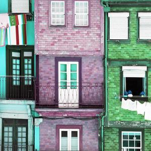 Welcome to Portugal Square Collection - Beautiful Colorful Traditional Facades II by Philippe Hugonnard