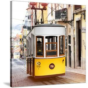 Welcome to Portugal Square Collection - Bica Tram in Lisbon III by Philippe Hugonnard