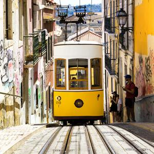 Welcome to Portugal Square Collection - Bica Yellow Tram by Philippe Hugonnard