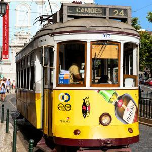 Welcome to Portugal Square Collection - Camoes 24 Lisbon Tramway III by Philippe Hugonnard