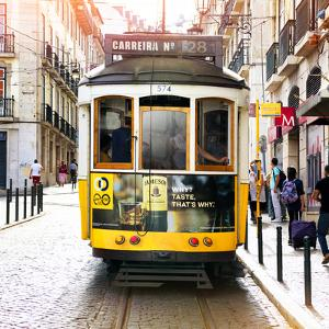 Welcome to Portugal Square Collection - Carreira 28 Lisbon Tram by Philippe Hugonnard