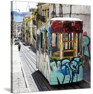 Welcome to Portugal Square Collection - Lisbon Tram Graffiti by Philippe Hugonnard