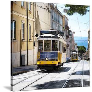 Welcome to Portugal Square Collection - Moniz Tram 28 Lisbon by Philippe Hugonnard