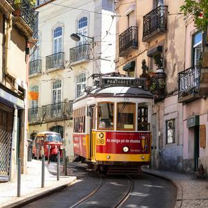 Welcome to Portugal Square Collection - Prazeres 28 Lisbon Tram by Philippe Hugonnard