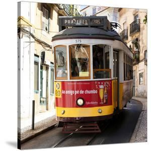 Welcome to Portugal Square Collection - Prazeres Tram 28 Lisbon by Philippe Hugonnard