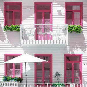 Welcome to Portugal Square Collection - White House and Pink Windows by Philippe Hugonnard