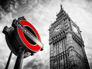 Westminster Underground Sign - Subway Station Sign - Big Ben - City of London - UK - England by Philippe Hugonnard