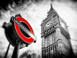 Westminster Underground Sign - Subway Station Sign - Big Ben - City of London - UK - England by Philippe Hugonnard