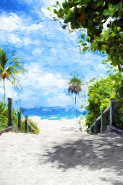 White Sand Beach II - In the Style of Oil Painting by Philippe Hugonnard