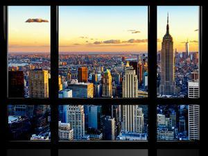 Window View, Empire State Building and One World Trade Center (1WTC), Manhattan, New York by Philippe Hugonnard