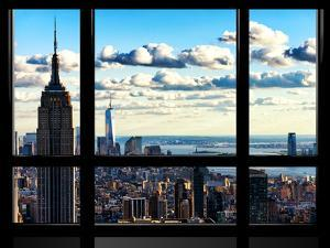 Window View, Empire State Building and the One World Trade Center (1WTC), Manhattan, New York by Philippe Hugonnard