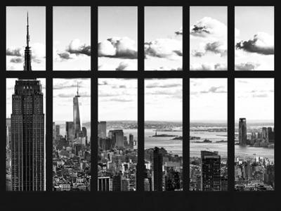 Window View - Empire State Building and the One World Trade Center - Manhattan - NYC by Philippe Hugonnard
